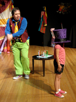 Matty Hatter sneaks up on an unsuspecting audience member